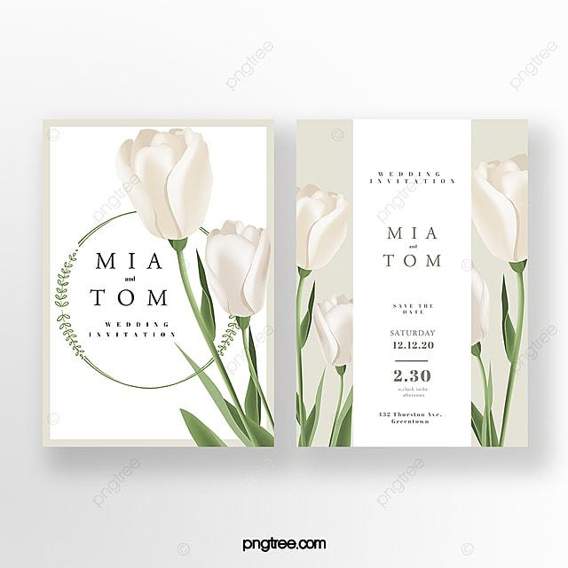 elegant lily wedding invitation