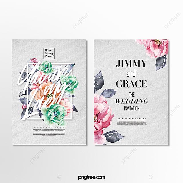 fresh and stylish simple and beautiful wedding invitation