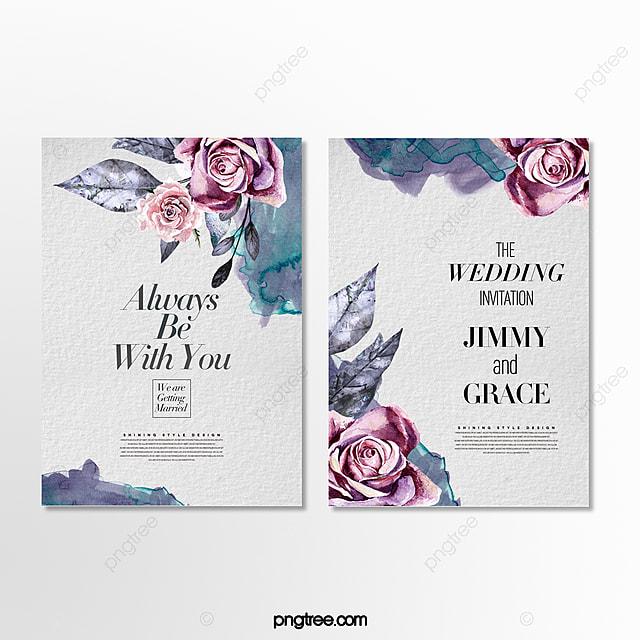 Wedding Invitations High End: High End Minimalistic Romantic Hand Drawn Cartoon Floral