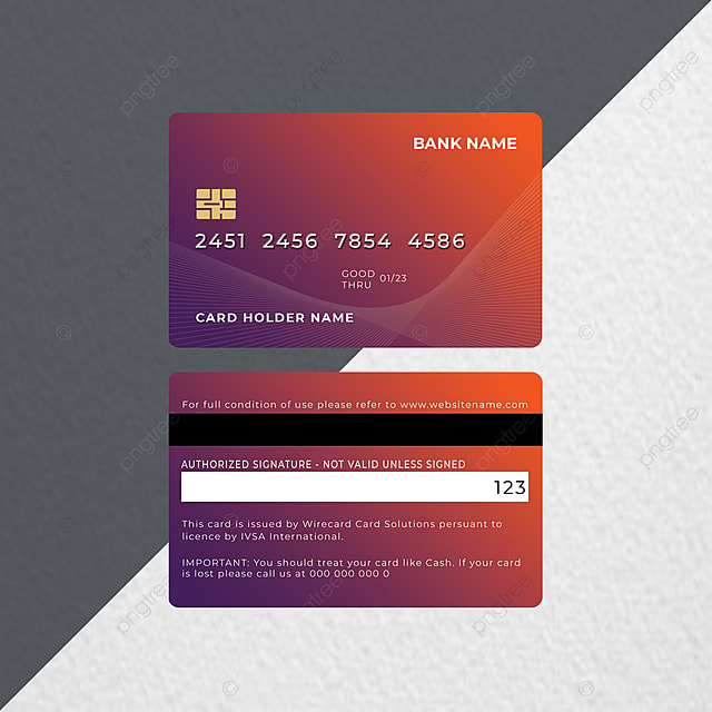 abstract bank credit card design template for free
