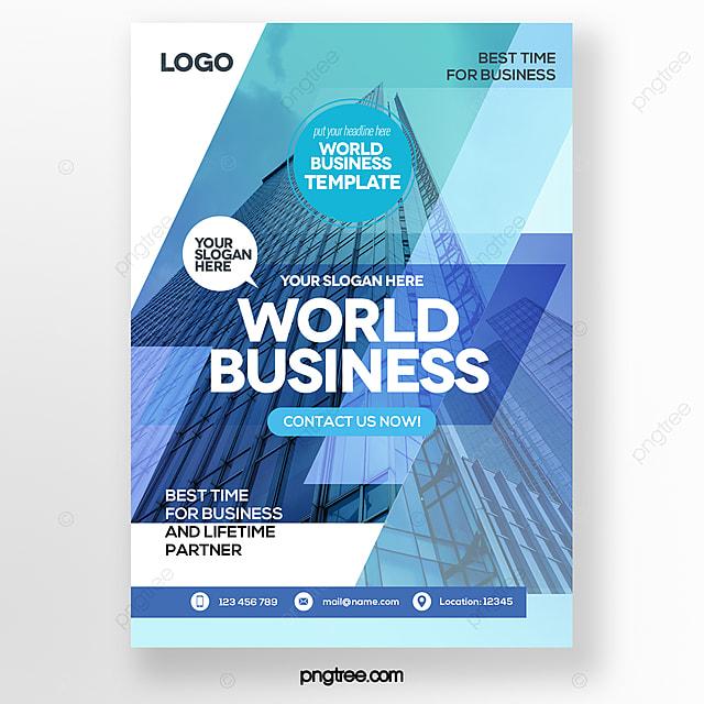 blue color gradient style business brochure
