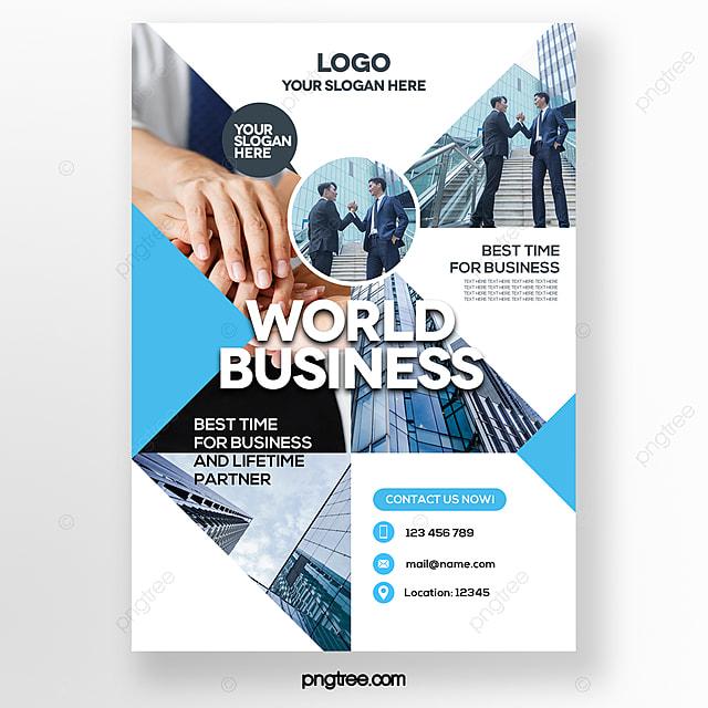 geometric color blue theme business brochure