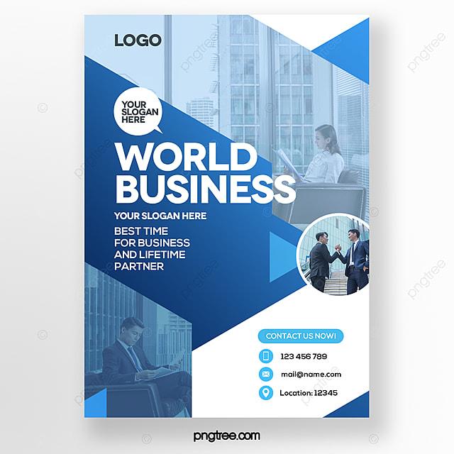 geometric composition blue gradient business brochure