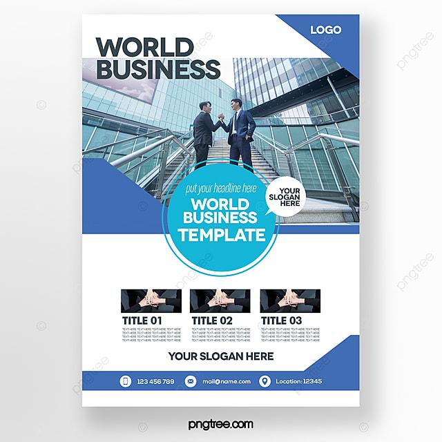 modern fashion simple style blue business brochure
