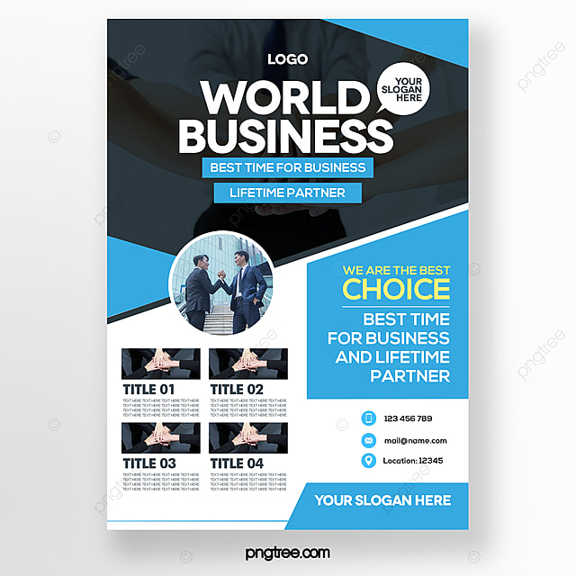 simple and stylish blue business brochure