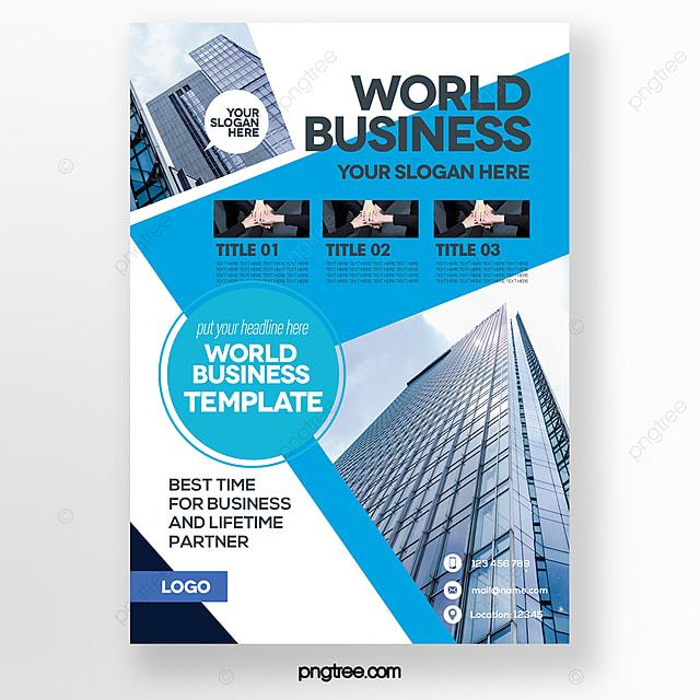 stylish business style blue brochure