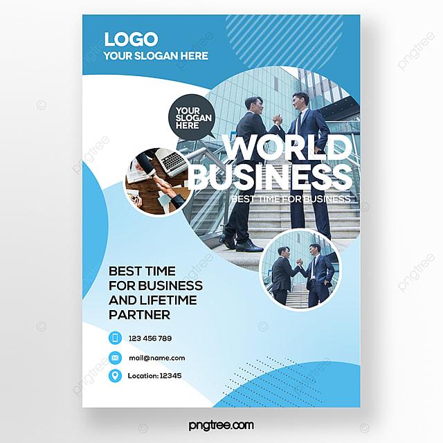 stylish geometric color gradient blue business brochure