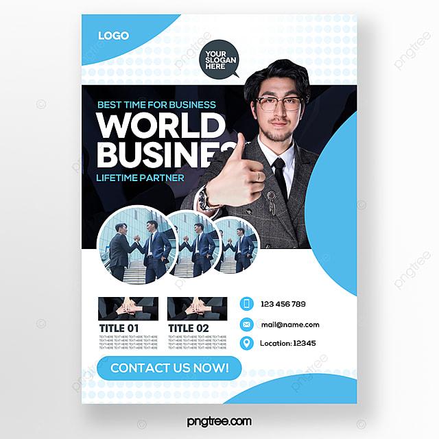stylish minimalist blue business brochure