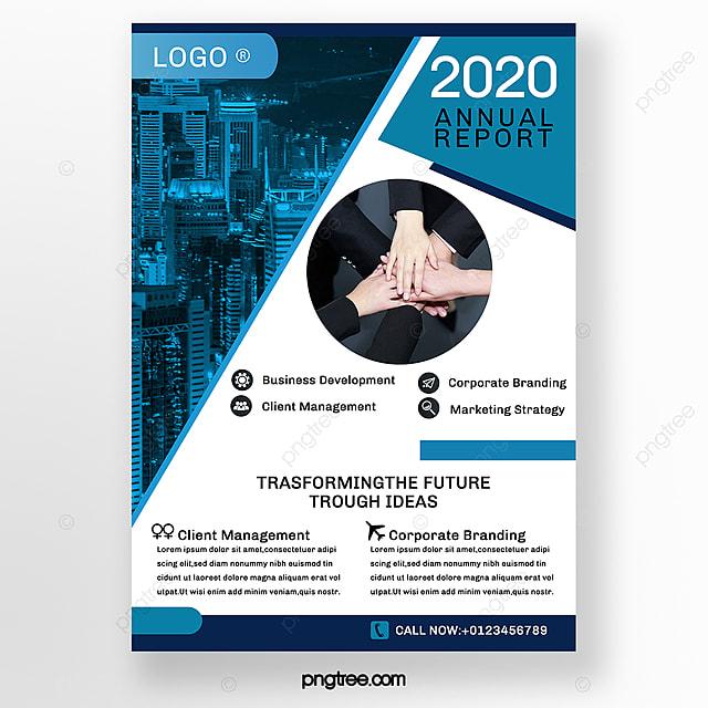 blue advertising business brochure