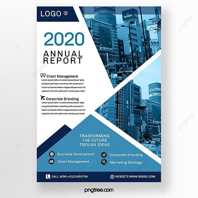blue geometric business advertising brochure