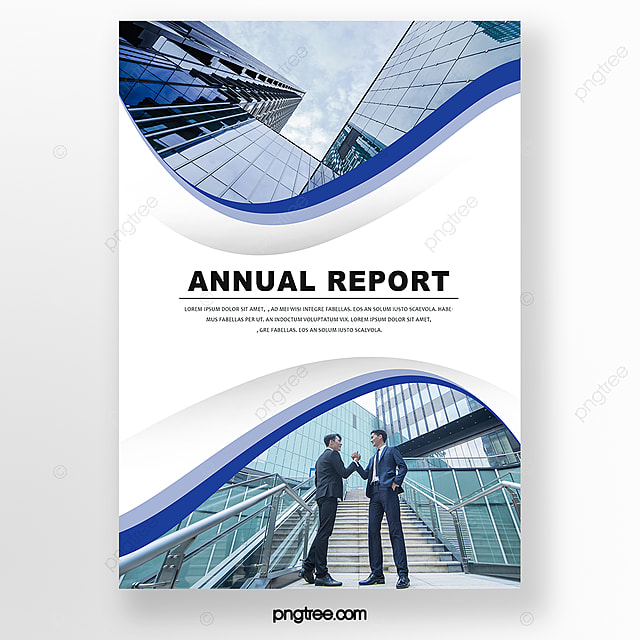 blue gradient business style brochure