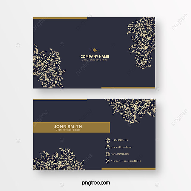 blue minimalist line print texture business card