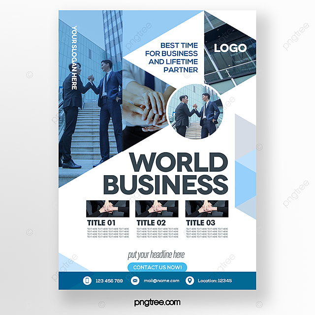 fashion minimalistic color geometric gradient style blue business brochure