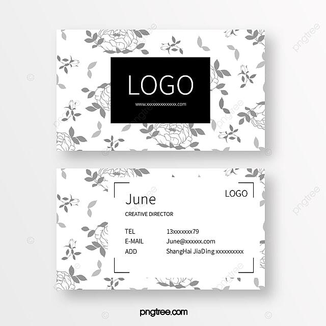 fresh line floral business card