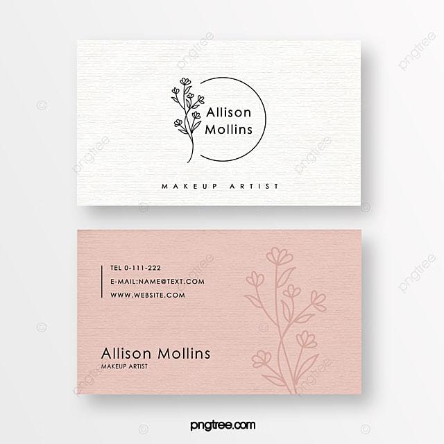 gentle minimalist linear flower beauty florist texture business card