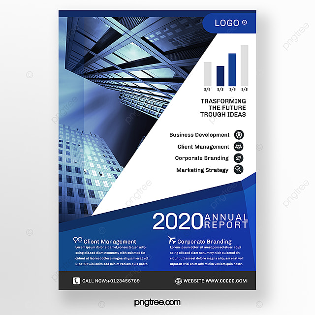 geometric blue business brochure