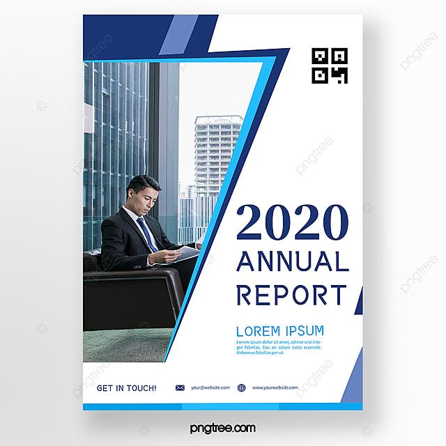 minimalistic blue white business brochure template