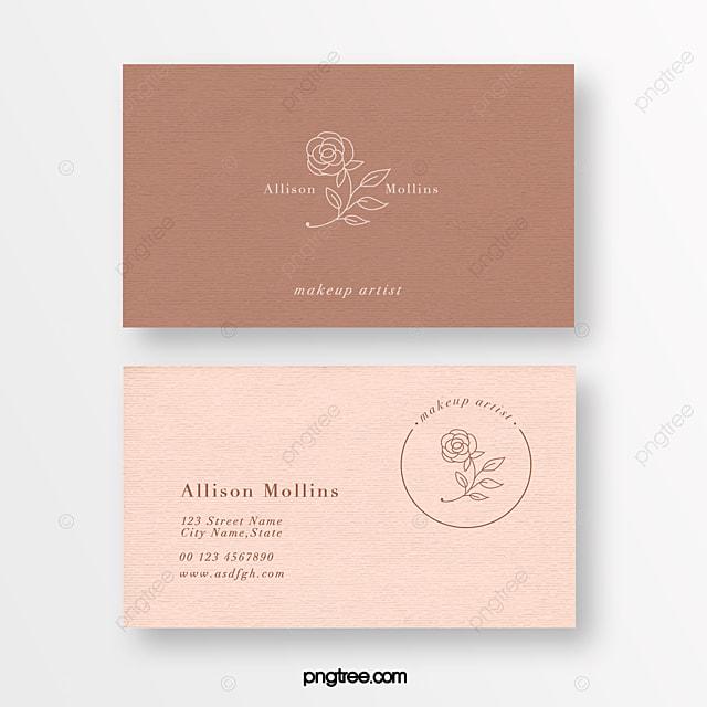 morandi gentle gentle linear flower beauty flower shop texture business card