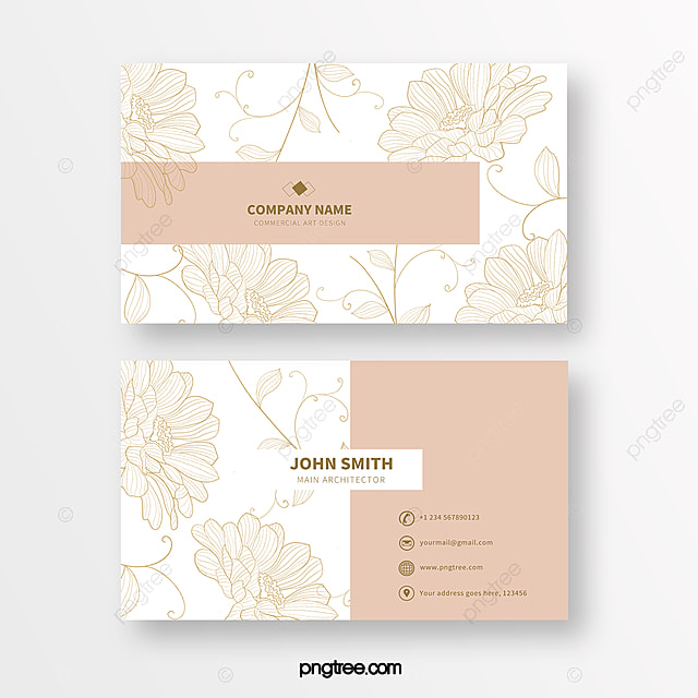 pink fashion line print texture business card