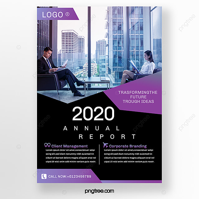 purple business brochure