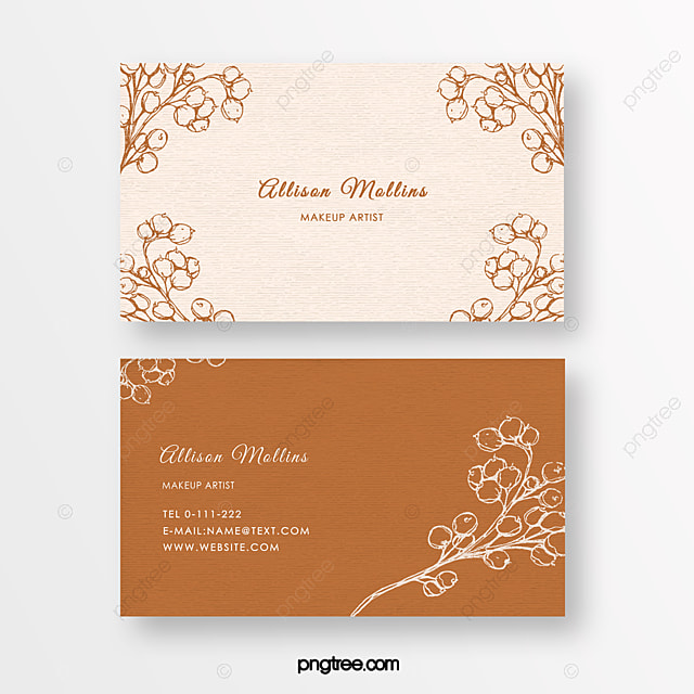 retro gentle minimalist linear flower beauty florist texture business card
