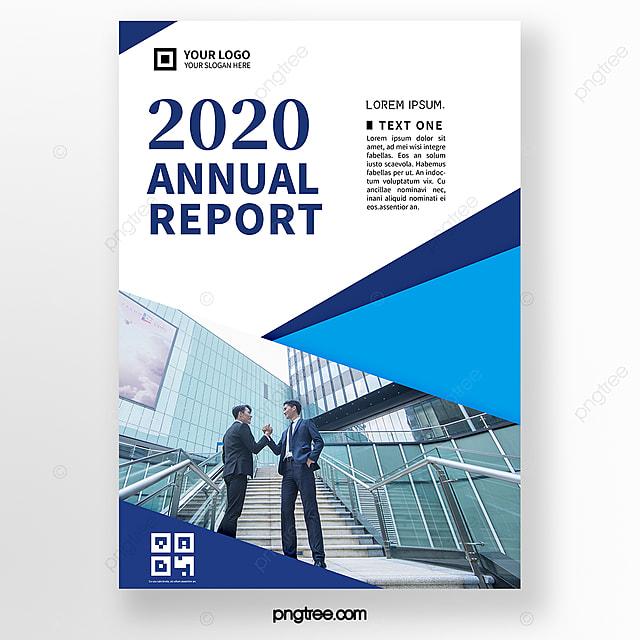 simple blue business brochure