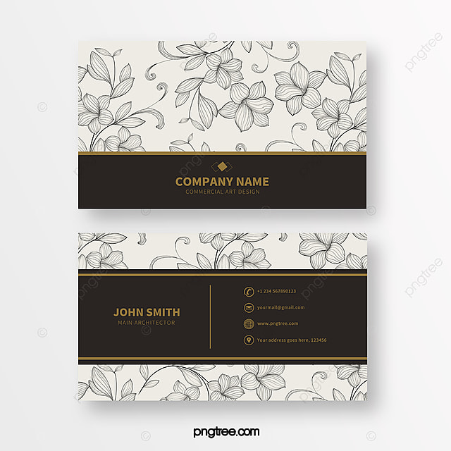 simple line print texture business card