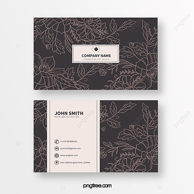 solid color line print texture business card