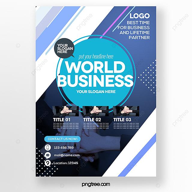 stylish minimalistic gradient line blue business brochure