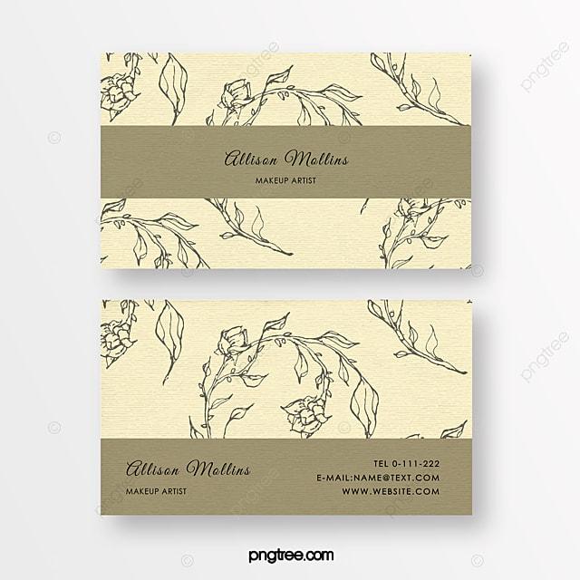 yellow linear flower beauty florist texture business card
