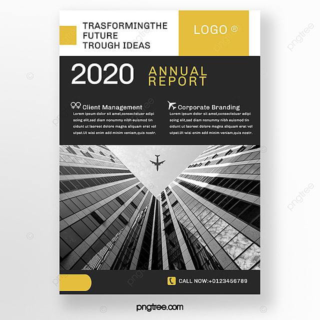 yellow minimalist business brochure