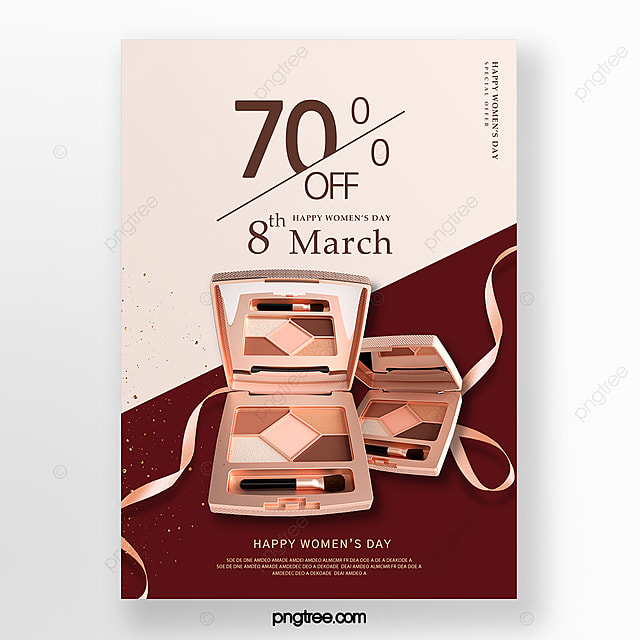 color delicate women s day makeup promotion poster
