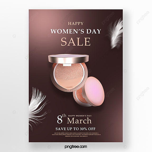 delicate women s day makeup promotion poster
