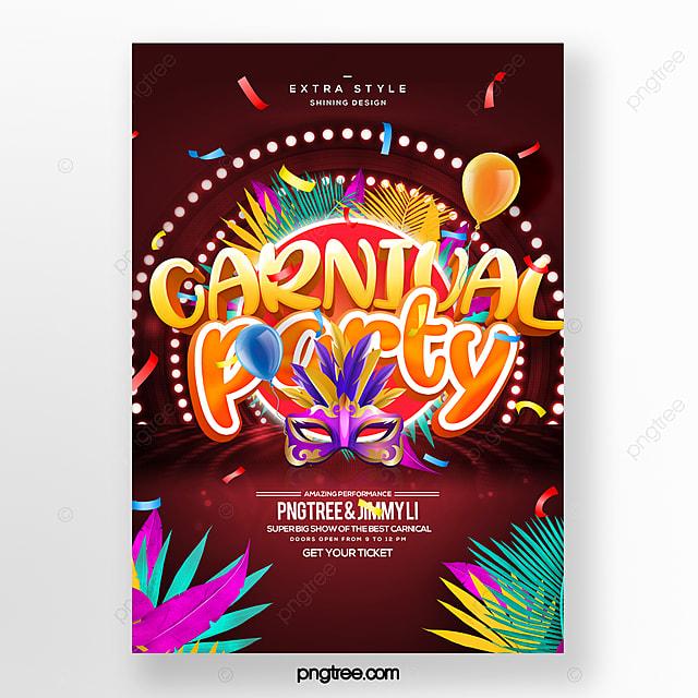 fashion cartoon style carnival carnival festival poster