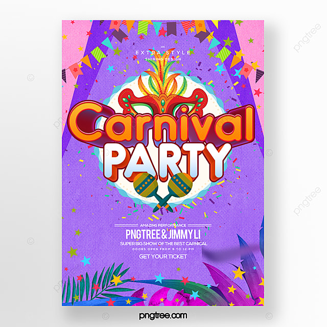 fashion cute style cartoon carnival festival party carnival poster