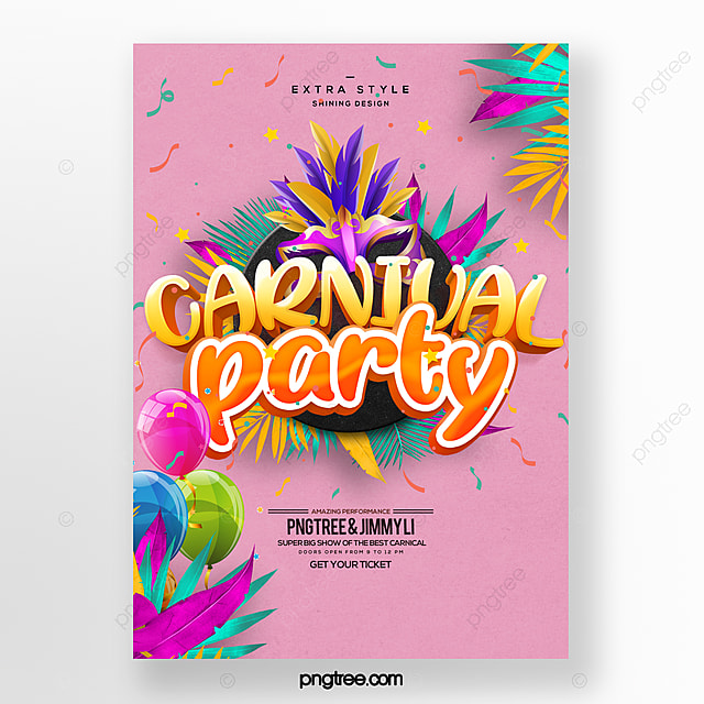 modern fashion color cartoon carnival festival carnival poster