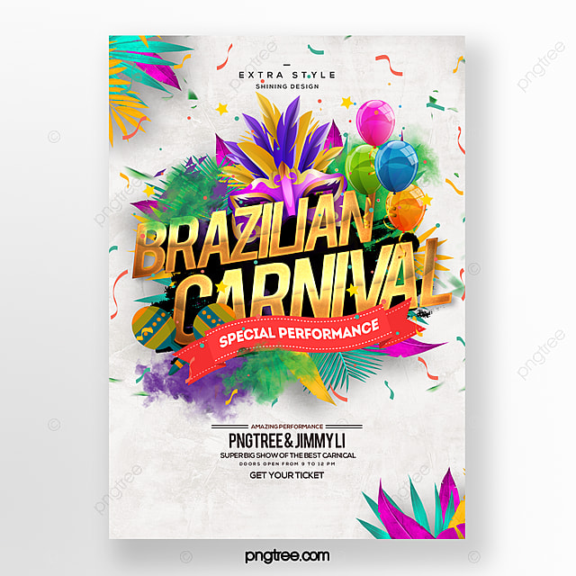 cartoon fashion color carnival festival party poster