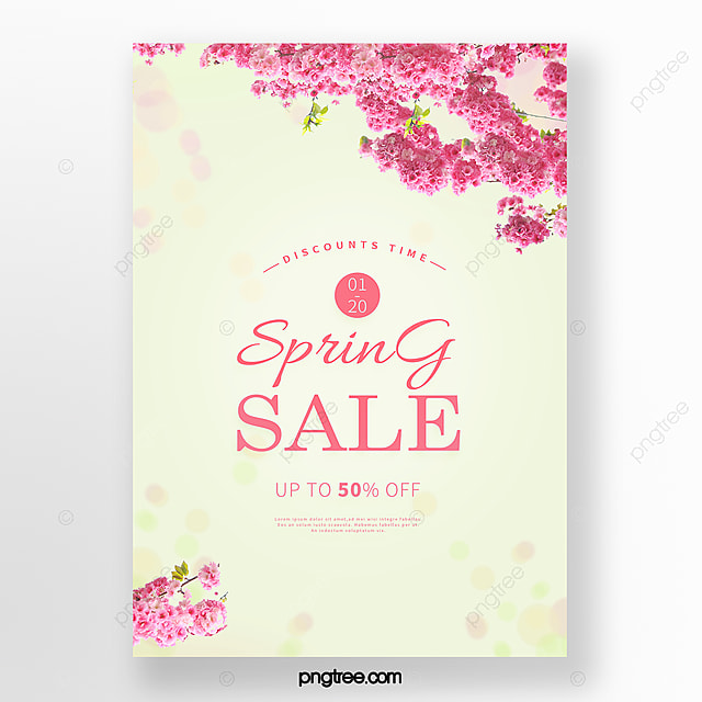 fresh and simple spring cherry blossom poster
