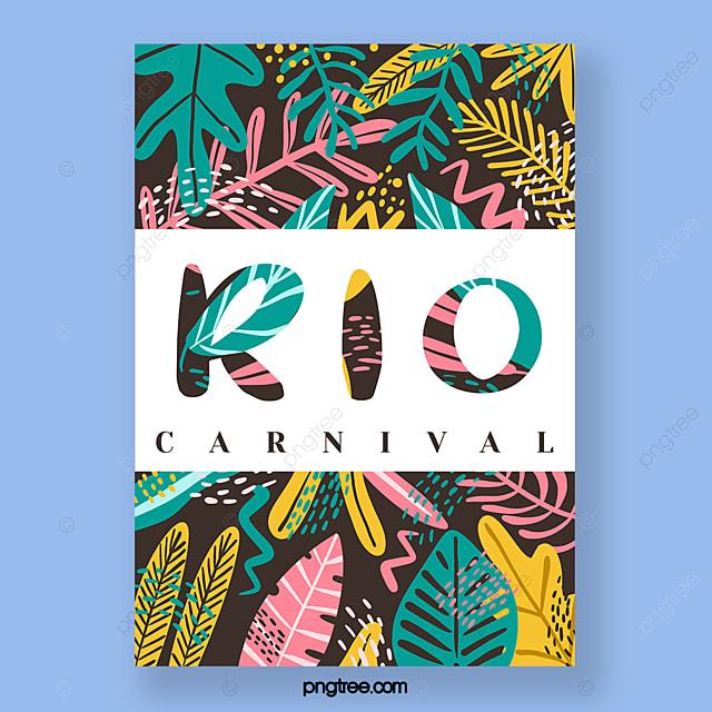 hand drawn carnival festival poster