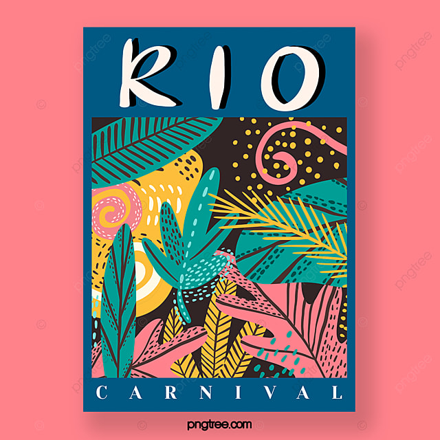 hand drawn carnival poster