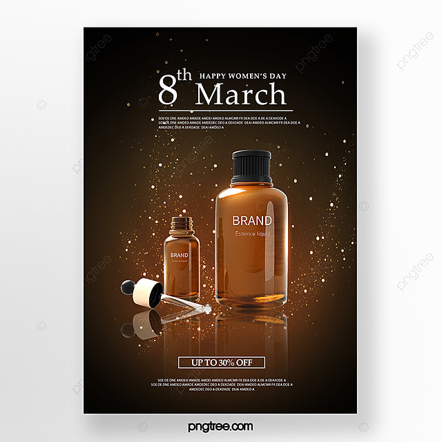 textured women s day skin care promotion poster