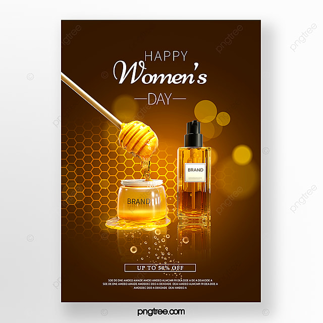 womens day skin care promotion poster