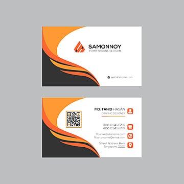 оранжевый визитку Шаблон