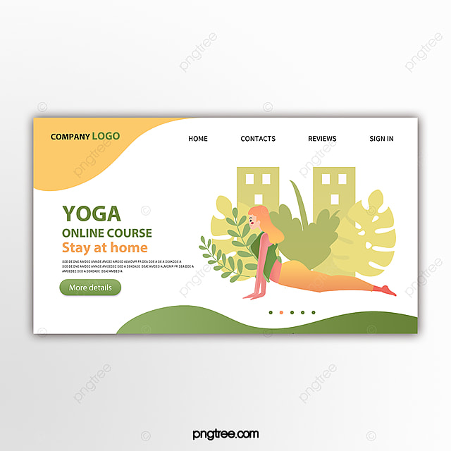 Color Vector Yoga Online Tutorial Web Design Template For Free Download On Pngtree