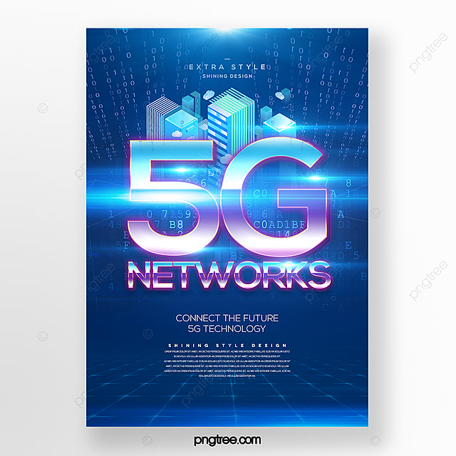 Modern Fashion Creative Light Effect 5g Communication Technology Motif Poster Template For Free Download On Pngtree