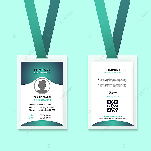 office id card design template template download on pngtree
