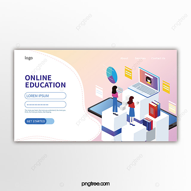 Fresh Pink Gradient Solid Geometry Online Education Banner Template For Free Download On Pngtree