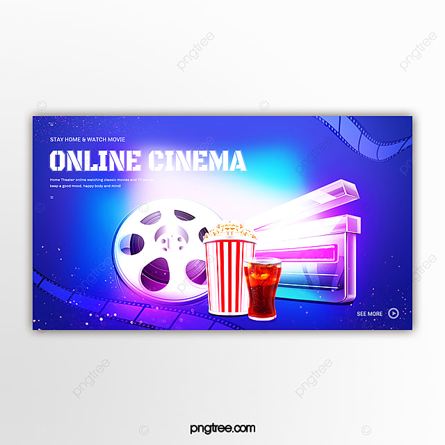 Hand Drawn Home Entertainment And Leisure Online Watching Movie And Tv Banner Template For Free Download On Pngtree