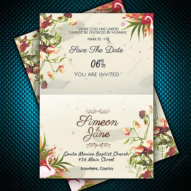 Gambar Kad Jemputan Perkahwinan Reka Bentuk Vintaj Klasik Dengan Hiasan Bunga Yang Comel Templat Untuk Muat Turun Percuma Di Pngtree