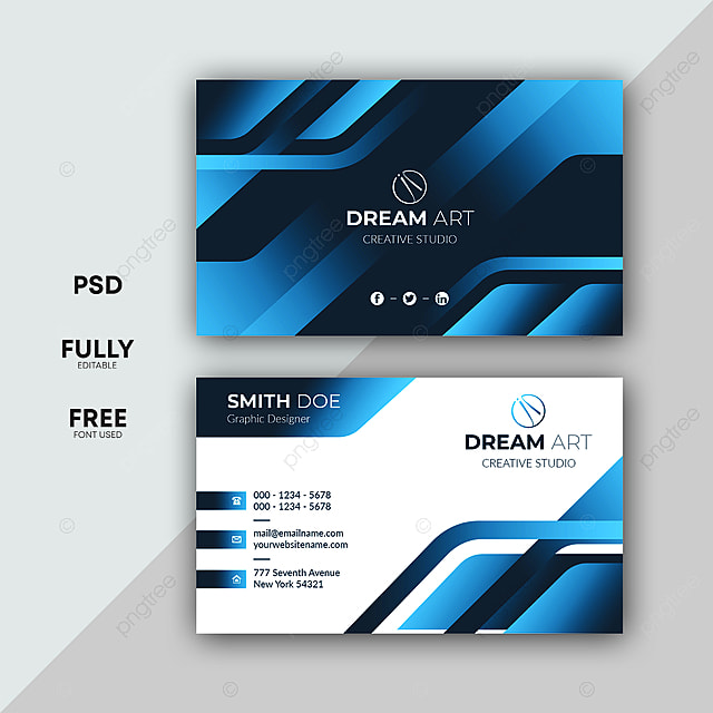 Professional Business Card Design Vol 20 Template For Free Download On Pngtree